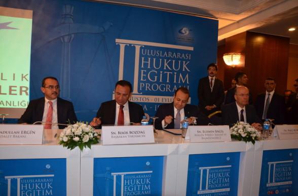 Sadullah Ergin, Bekir Bozdağ, Egemen Bağış, Naci Bostan, 2. Uluslararası Hukuk Eğitim Programı, Ankara